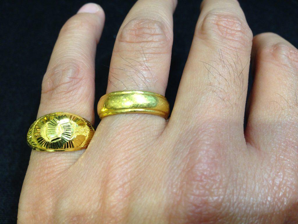 แหวนทองครึ่งสลึงเทียบ 2 สลึง